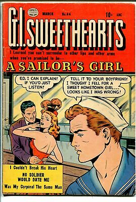 G.I Sweethearts #44 1955-Quality-sailor love triangle-military-last pre-code-FN