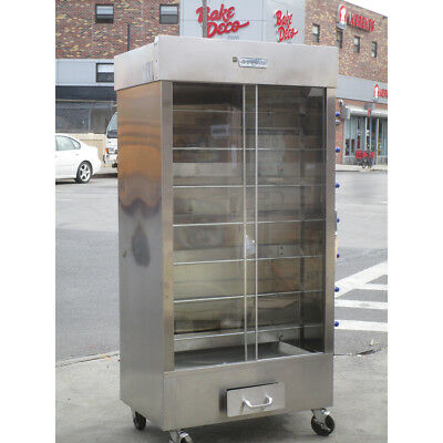 Attias 3BK-7SPG Commercial Chicken Rotisserie Gas Oven, Used Excellent Condition