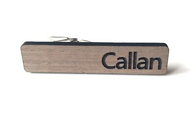 Personalised Wedding/Formal Men/Boys Wood Tie Clips/ Clasps/Pins