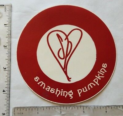 Vintage smashing pumpkins siamese dream sticker 4 5x4 5 red logo sound warehouse