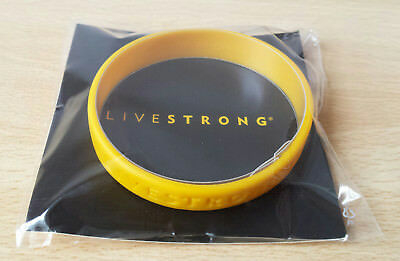 Genuine New Livestrong Wrist Band Lance Armstrong Yellow - Adult Size  L - Xl