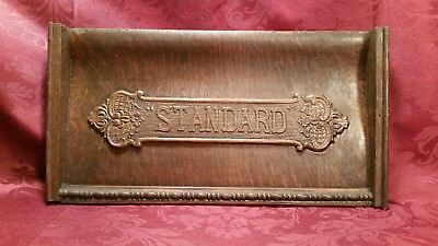 ANTIQUE Standard Sewing Machine Co. Sewing Machine Wood Nameplate/Sign COOL!!
