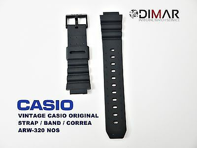 Lot Of 2 Vintage Casio Original Band/strap/strap Arw-320/aq-120/aq-130 Nos