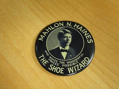 Vintage Mahlon Haines The Shoe Wizard Hand Mirror