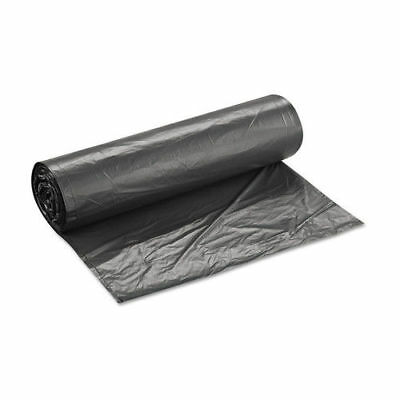 Inteplast Group High-Density Can Liner, 43 X 48, 60gal, 16mic, Black, 25/roll, 8