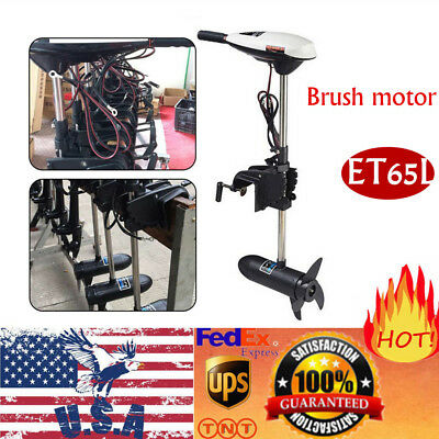 65LBS 12V Electric Outboard Motor Inflatable Fishing Boat Engine Telescopic