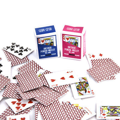 Miniature Poker Mini 1:12 Dollhouse Playing Cards Doll House Mini Poker