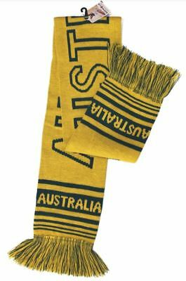 Australian Souvenir knit Scarf Australia Green and Gold Aussie gift soft warm