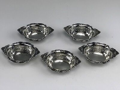 5 Gorham Sterling Silver Reticulated Nut Dishes