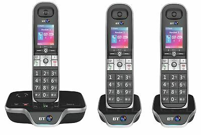 BT 8600 Cordless Telephone with Answer Machine - Triple - Black - Argos eBay
