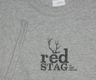 Jim Beam Bourbon Whiskey Red Stag Antlers T-shirt L New
