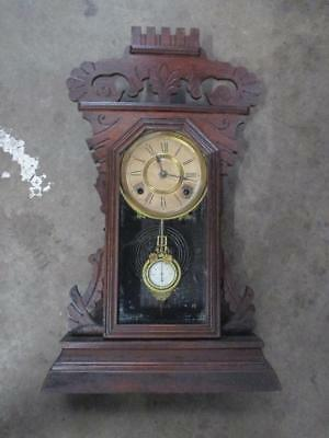 Cottage clock, mantel clock, Ansonia, all original