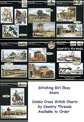 Choice of Combo Cross Stitch Charts by Country Threads ~ Australian