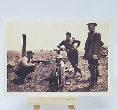 Harley Davidson Motorcycle Post Card Hanging Out 6 x 4.25