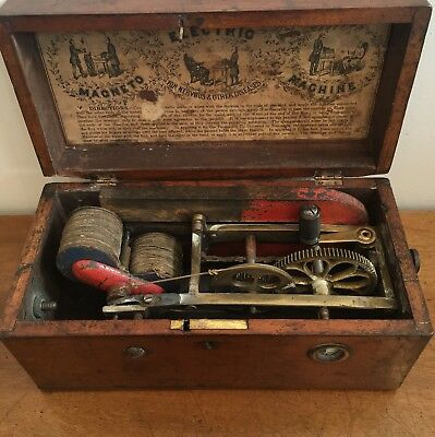 Antique Victorian Magneto Electric Shock Therapy Machine for Nervous Diseases