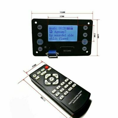 DC 12V digital LCD Lyric Show Bluetooth MP3 Decoder board Audio Player FM car