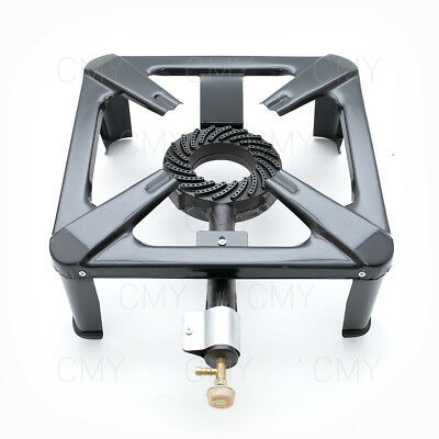 Large Gas Cast Iron LPG Burner Cooker Gas Boiling Ring Camping Catering Outdoor