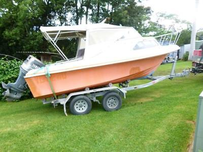 Swiftcraft 5.3m Boat and as new tandem trailer 150hp Yamaha outboard