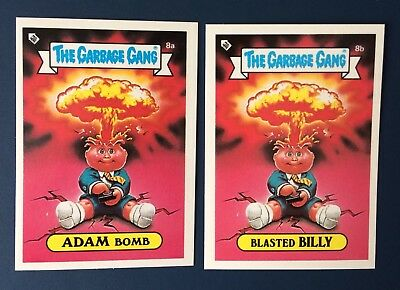 Adam Bomb 8a/Blasted Billy 8b~ New Zealand The Garbage Gang~Pack Fresh!