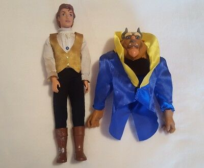 Beauty And The Beast Doll Beast To Prince Rare Doll Figure L@@k Recorded P&p