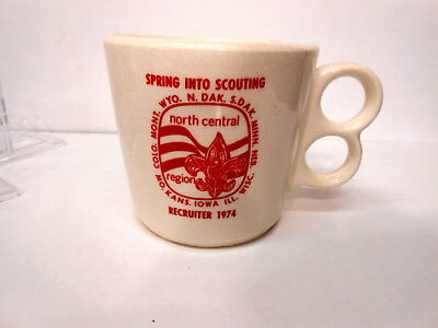 Mug Boy Scouts BSA 1974 Recruiter North Central Region Cup