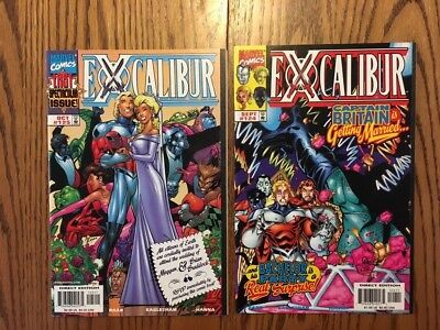 Excalibur #124 And #125..final Two Issues.. Htf..nm....