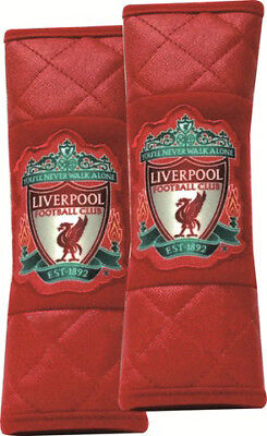 Official Liverpool Fc Car Accessory: Pair Of Seat Belt Covers (Seat Belt Pads)