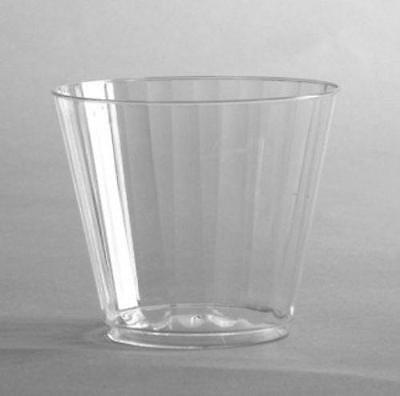 WNA Inc CCR9240 Classic Crystal Plastic Rocks Tumblers, 9 Oz., Clear, Fluted,