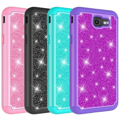 For Samsung Galaxy Halo Phone Glitter Case Hybrid Dual Layer Protective Cover