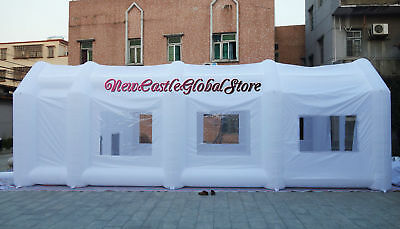 custom made white portable giant inflatable spray paint painting booth enclosure