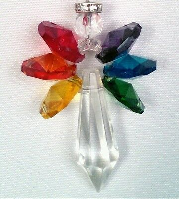 Handmade Crystal Angel Sun Catcher Rainbow Maker Full Spectrum Window Ornament