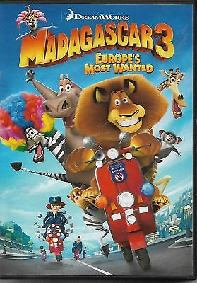 Madagascar 3: Europe's Most Wanted (DVD, 2012, Widescreen) Ships in 12 hours!!!