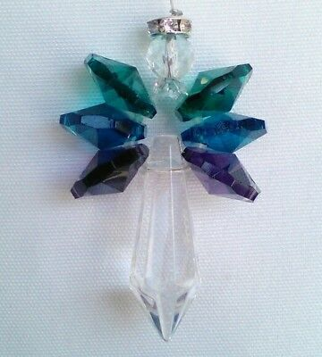 Handmade Majestic Crystal Angel Sun Catcher Rainbow Maker Window Ornament