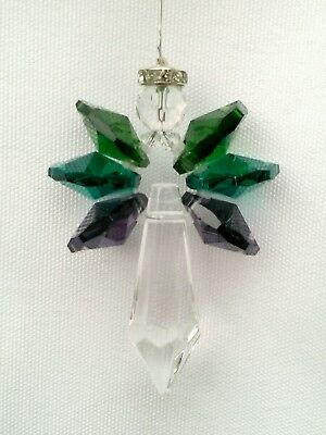 Handmade Birthstone Crystal Angel Sun Catcher Rainbow Maker Window Ornament