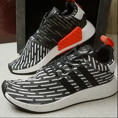 34bd97e66 Neue Adidas NMD R2 Primeknit PK BB2951 Black White Red Stripes - Gr. 44 2