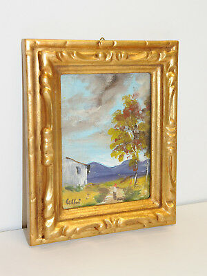 Small Wood Frame Gold Colour With Painting Oil Painting Original