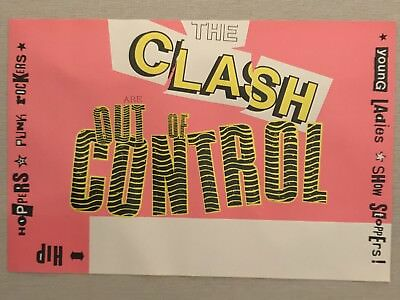 The CLASH Poster, Out Of Control, Original Vintage, Rolled, 18x12