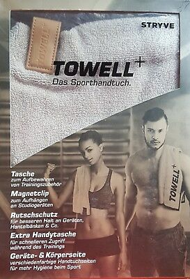 Towell+ Sport Multifunktionshandtuch mit Magnet Clip Sporthandtuch Fitness