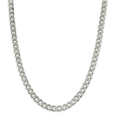 Sterling Silver 8mm Pave Curb Chain Necklace or Bracelet QCF220