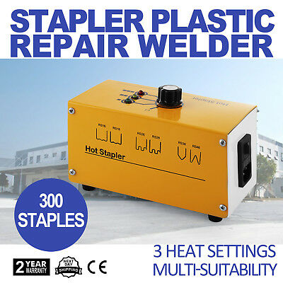 110V Hot Stapler Plastic Repair Car Bumper Fender Welder 300 Staples