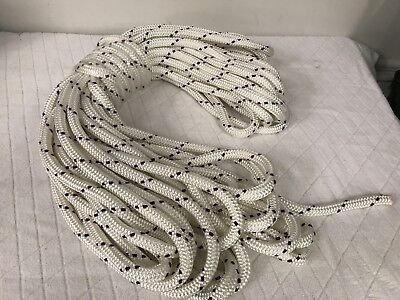 """9/16"""" x 100 ft. Double Braid Polyester halyard line yacht   Made in USA"""