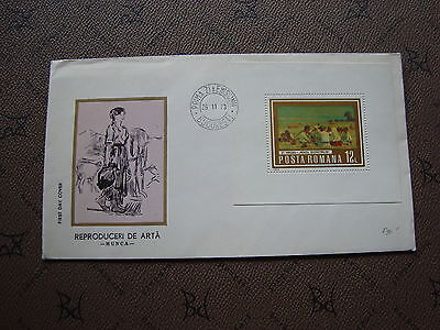 ROMANIA envelope 26/11/73 -stamp Yvert and Tellier bloc n°110 (cy2)