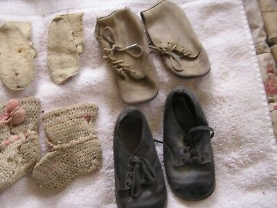 Vintage Lot of 4 Children's Shoes