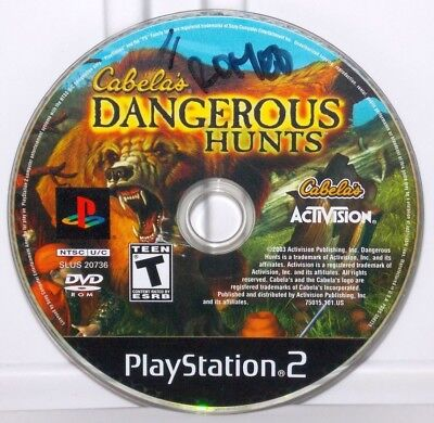 Cabela's Dangerous Hunts (Sony PlayStation 2, 2003) PS2 Video Game