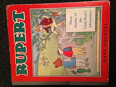 RUPERT Three Stories of the Little Bear's Adventures. MARY TOURTEL.. RARE 1940s!