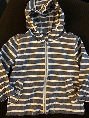 NWOT's OshKosh B'Gosh Boys Striped Lightweight Hooded Jacket Size 3T Super Cute!