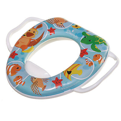 Kids Potty Training Toilet Seat Padded Soft Ring Baby Toddler Boys Girls White