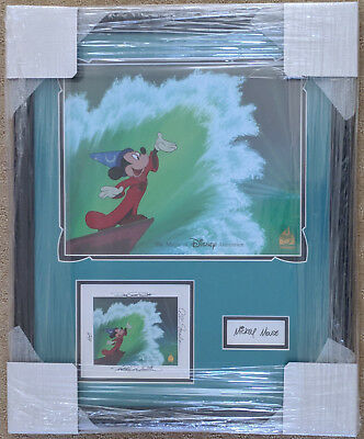 Disney D23 Expo Ink & Paint Cel Framed Some Imagination Signed Sorcerer Mickey