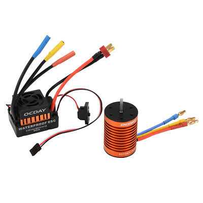 9T 4370KV Brushless Motor + 60A ESC Speed Controller Combo for 1/10 RC Car RC763