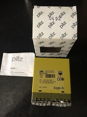 Pilz Safety Relay PNOZ1 475630 110vac 3S10 6va 50-60hz